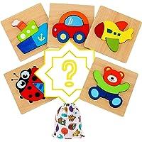 IMMEK Juguetes Bebes Puzzle de Madera para Niños y Niños 1 Año 2 3 4 5 Años Montessori Educativos Rompecabezas Juegos…