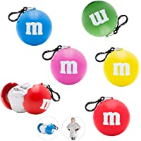 "M&M's Poncho Ball Keychain Party Favors Bundle ~ 5 Pack""One Size Fits Most"" Emergency Raincoat in Keychain Ball with…"
