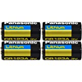 Panasonic CR123A Battery; Lithium; 1400 mAh; 3 V; 17 mm Dia. X 34.50 mm H; 17 g (4 pcs)