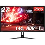 Pixio PX276h ディスプレイ モニター [ 27インチ WQHD 2560×1440 1ms HDR 144hz FreeSync ] ゲーミング モニター HDR対応 FreeSync2 スリムベゼル 27 inch display monitor 【正規輸入品】