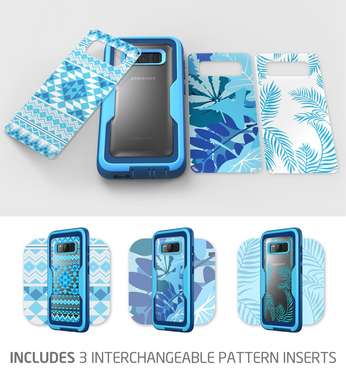 Heavy Duty Protection Blue Armorbox i-Blason Galaxy S8 Case, Shock Reduction//Bumper Case Without Screen Protector for Samsung Galaxy S8 2017 Release Full Body