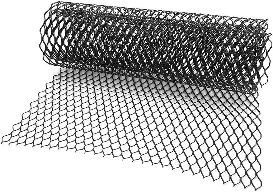 100x33cm Alliage aluum Pare-Choc Voiture Forme Hex Maille Grill 11x25 mm