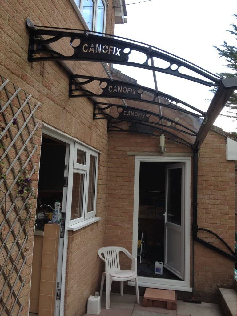 Policarbonato customstyle voladizo Canofix fults/Canopy 1270 x 3000 mm recorrido, fumar refugio: Amazon.es: Bricolaje y herramientas