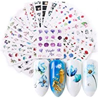 Kapmore Nagelstickers, 24 stuks, nagelstickers, nail art stickers, nagelstickers, zelfklevende kunststicker, manicure…