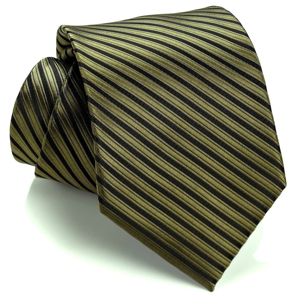 Striped Ties For Men – Woven Necktie –...