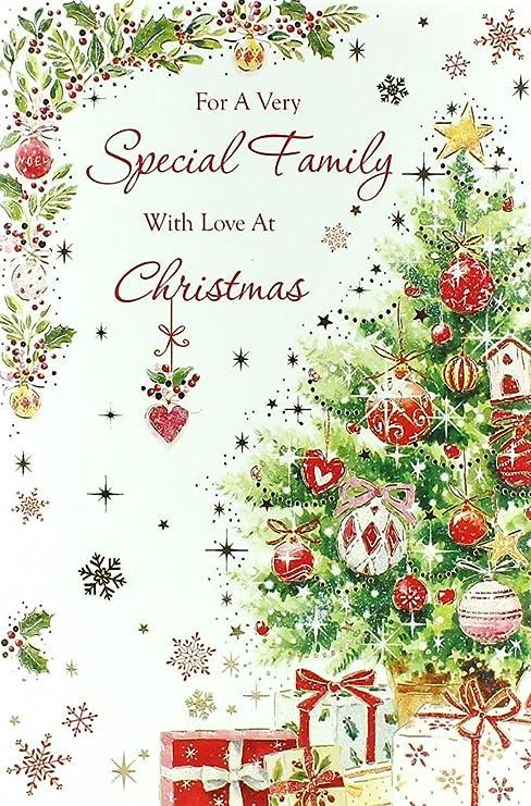 Auguri Di Natale Famiglia.Cartolina Di Auguri Di Natale Per Tutta La Famiglia Con Il