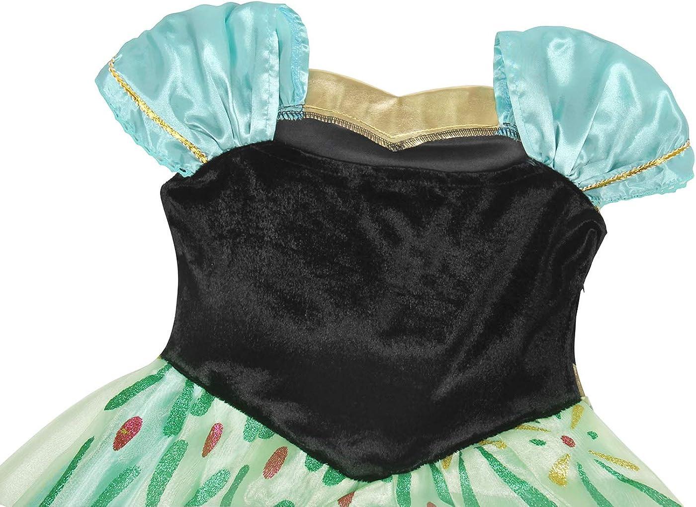 AmzBarley Dress Girls Costume Queen Birthday Party Halloween Kids Clothes