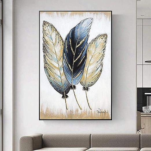 SXXRZA Lienzo de Arte 20x30 cm sin Marco Abstracto Pluma