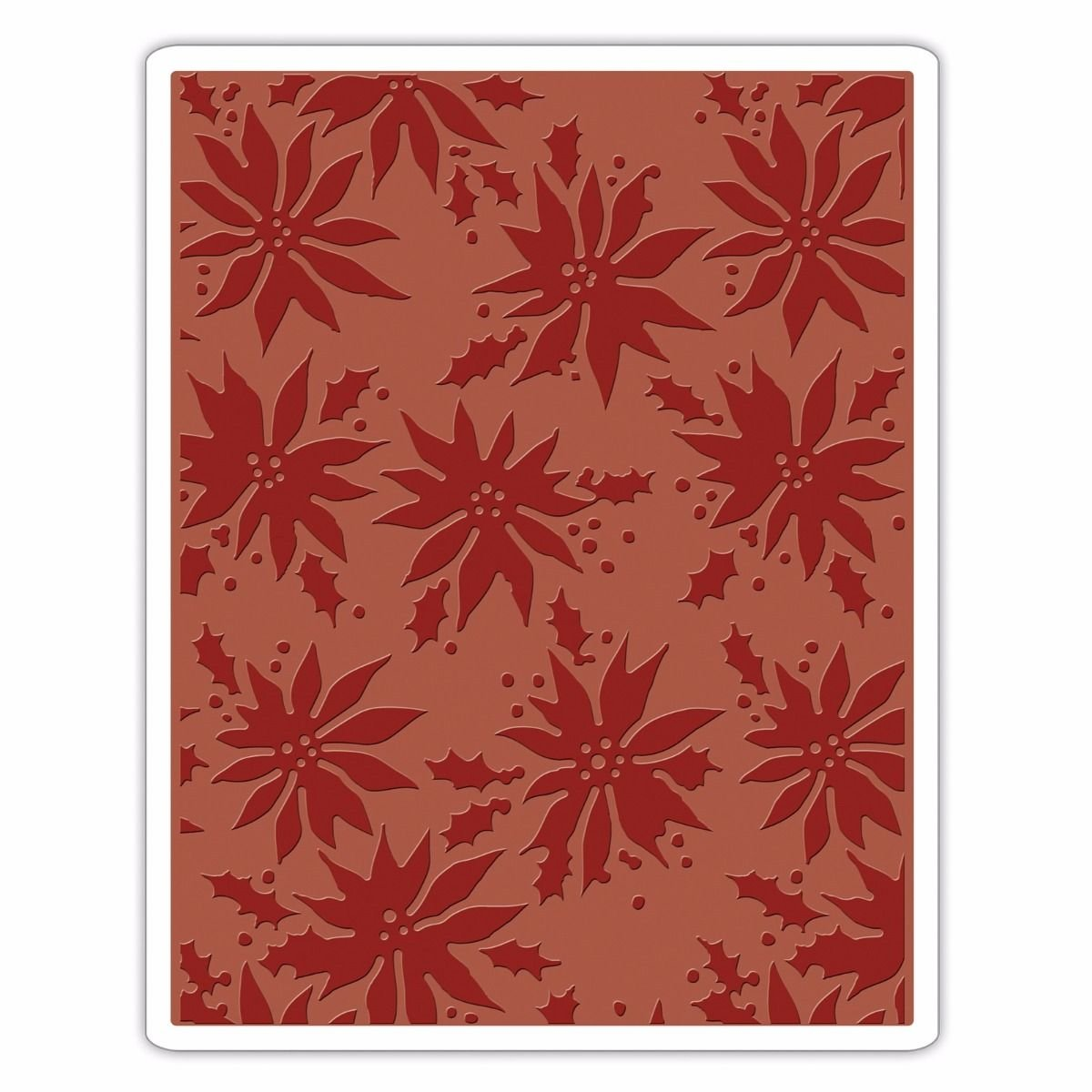 Sizzix 662433 Texture Fades Embossing Folder, Poinsettias by Tim Holtz, Multi Ellison