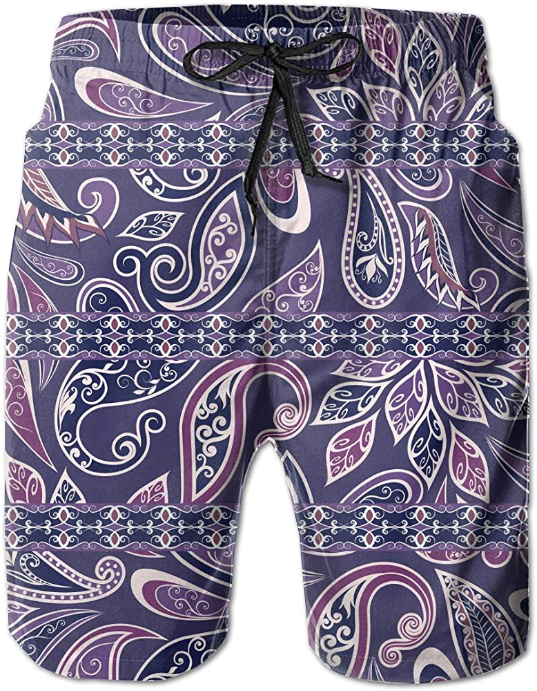 Polyester Marijuana Leaf Pattern Board Shorts with Pockets Mens Quick Dry Beach Shorts
