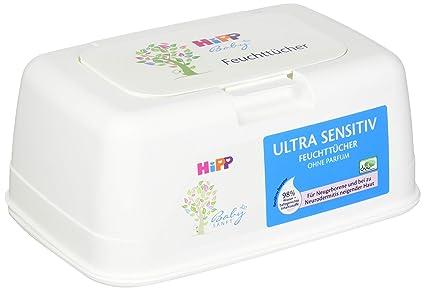 Hipp Baby suavemente 9576 Toallitas Ultra Sensible en caja, color blanco 431g - Pack de