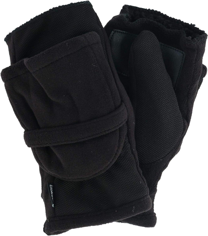 isotoner Womens Stretch Fleece Flip Mitten - Thermaflex