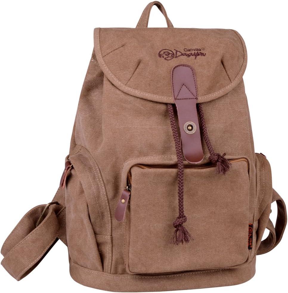 DGY la Mochila Bolsos de Mujer Bolsa de Viaje Mochilas Tipo Casual Mochilas escolares117 Beige