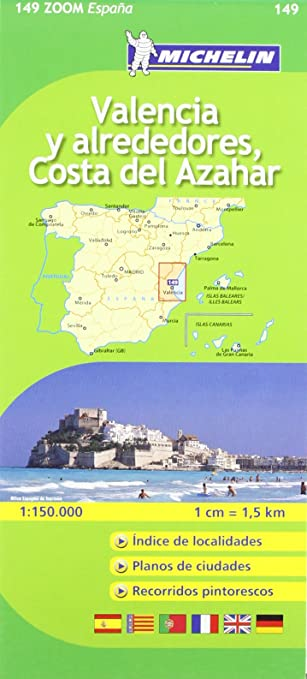 Mapa Zoom Valencia y alrededores, Costa del Azahar (Mapas Zoom Michelin): Vv.Aa, Vv.Aa: Amazon.es: Belleza