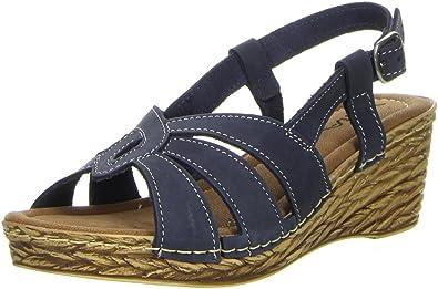 Vista Damen Pantoletten Nieten blau, Größe:38, Farbe:Blau
