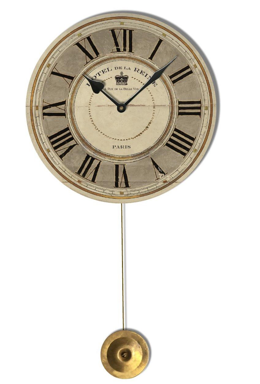 Hotel de la Reine Gray Pendulum Clock