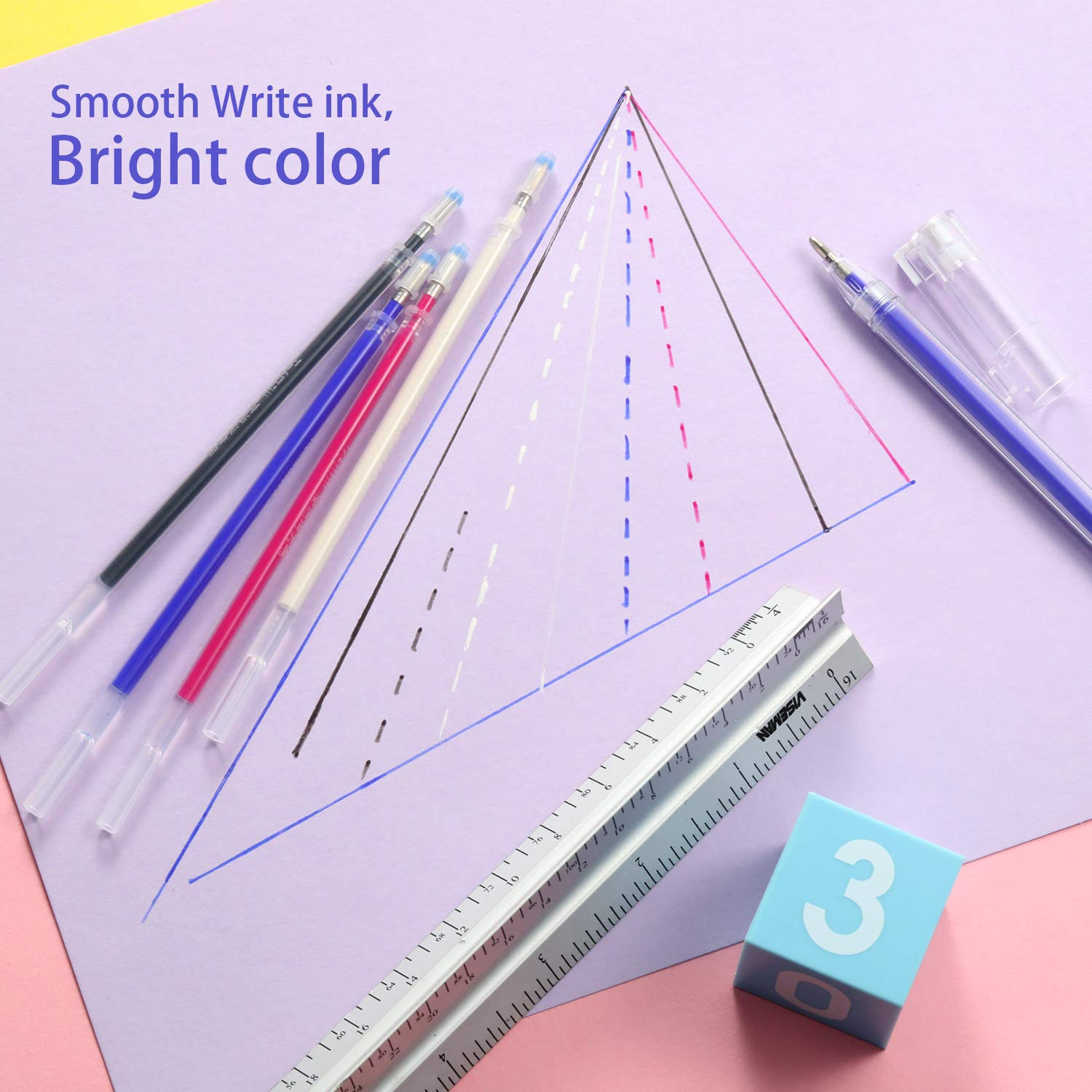 and Quilting Dressmaking 16 4 Colors Heat Erasable Pens for Various Colors of Fabrics Blulu Heat Erasable Fabric Marking Pens with 8 Refills for Tailors Sewing
