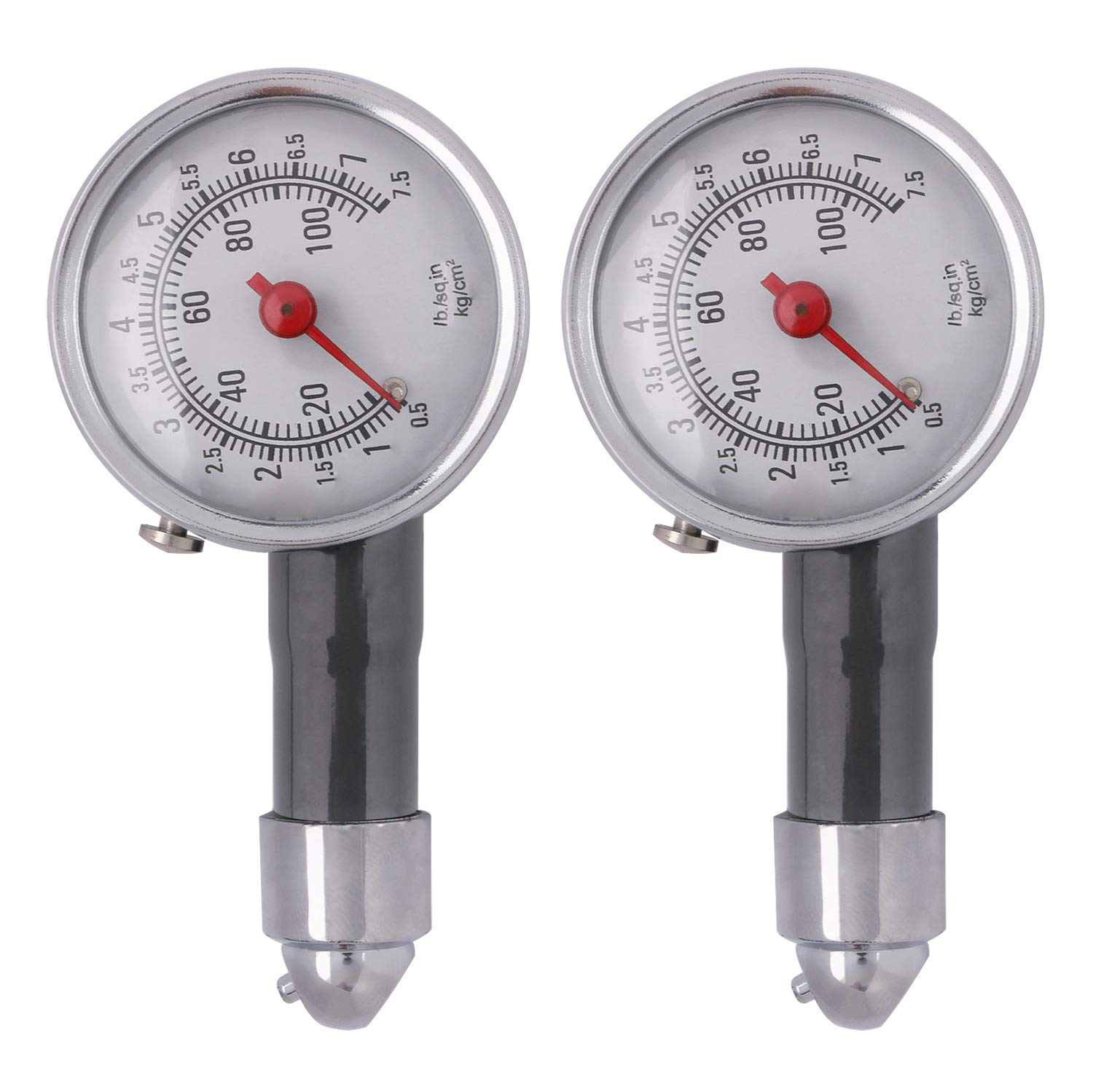 Sdootauto Tire Pressure Gauge, 2 Pack Heavy Duty Tire Inflator Gauge Accurate for Any Car, Truck, Motorcycle, RV- 100 PSI