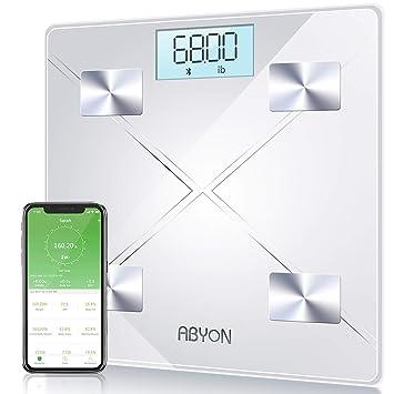 Amazon.com: Báscula de peso digital y masa corporal con ...