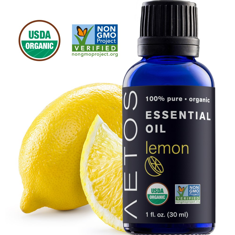 Amazon Com Aetos Organic Lemon Oil Usda Certified Organic Essential Oils Non Gmo 100 Pure Natural Therapeutic Grade Essential Oil Best Aromatherapy Scented Oils For Home Office Personal Oil Use 1 Oz Beauty