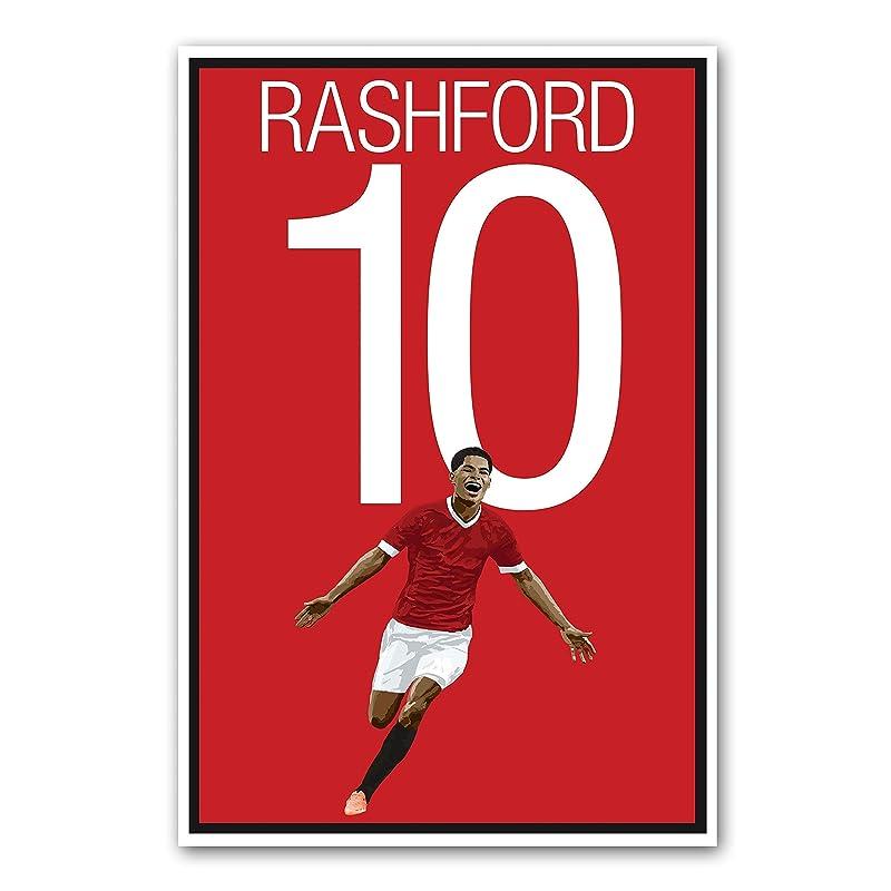 Amazon Com Marcus Rashford Poster Manchester United Art Handmade