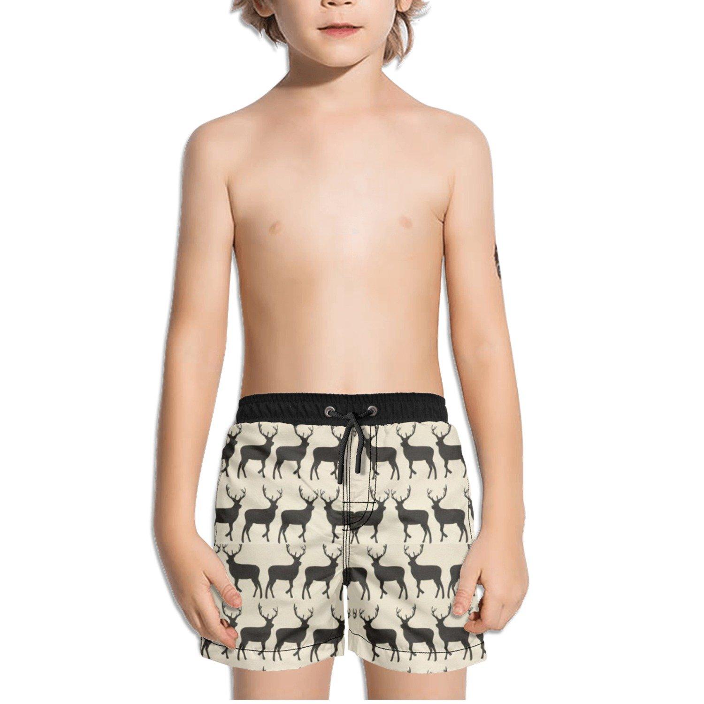 Ouxioaz Boys Swim Trunk Deer Cute Pattern Beach Board Shorts
