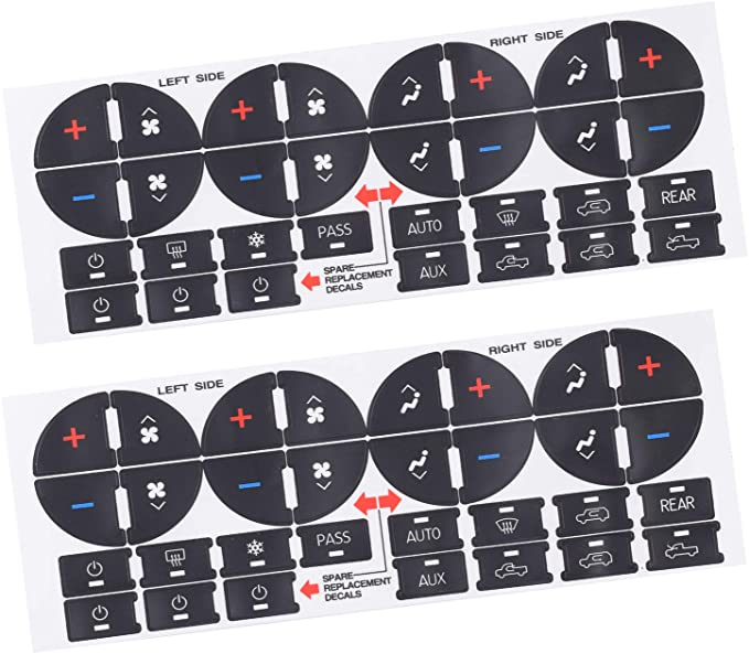 More Wearable Auto Console Button Decal Stickers fits for GM 07-14 2pcs