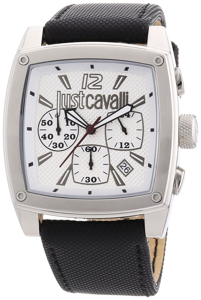 Just Cavalli Men's Pulp Chronograph Silver-Tone Dial Watch R7271583001 by Just Cavalli