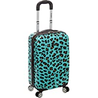 Rockland 20 Inch Carry On Skin, Blue Leopard, One Size