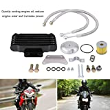 Acouto Motorcycle Engine Oil Cooler Cooling