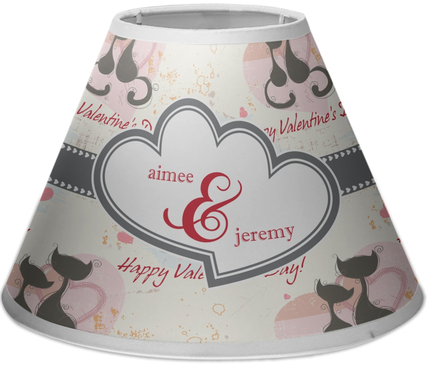 RNK Shops Cats in Love Empire Lamp Shade (Personalized)