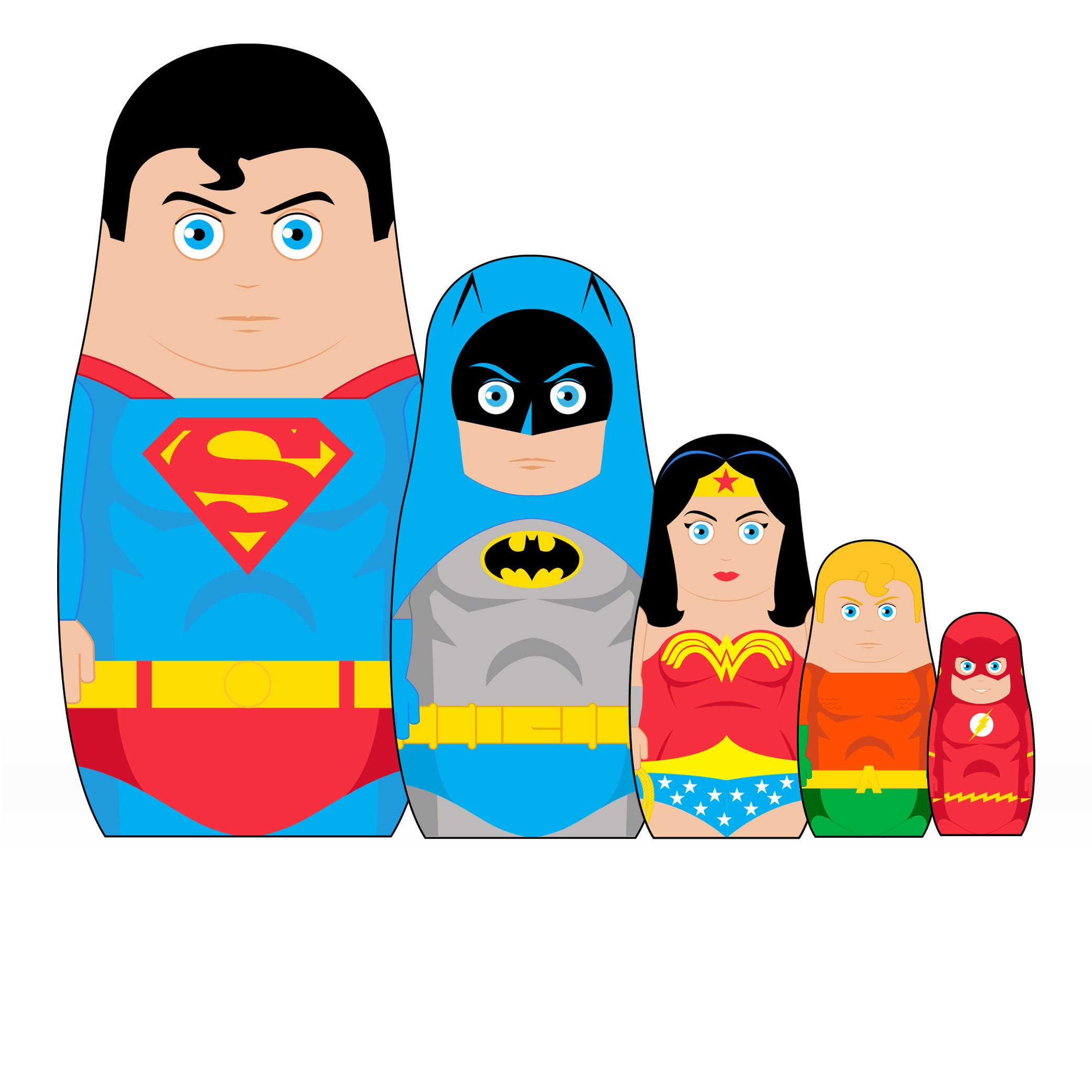 Bif Bang Pow! Justice League Nesting Dolls Set of 5 by Bif Bang Pow! (Image #1)