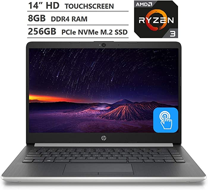 HP Laptop 14 Laptop AMD Ryzen 3 8GB RAM 256GB SSD 14-dk0736ms
