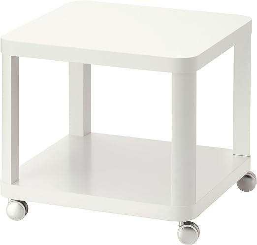 Zigzag Trading Ltd IKEA TINGBY - Mesa Auxiliar con Ruedas Blanca ...