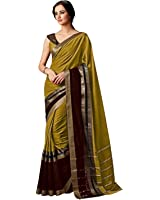 Indian Beauty Women's Art Silk Cotton With Blouse Saree