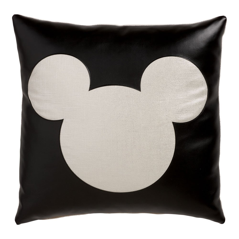 Ethan Allen | Disney Mickey Mouse Cheers for Ears Pillow, Silver