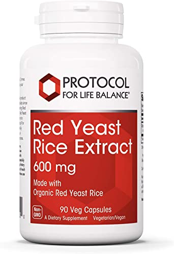 Protocol For Life Balance – Red Yeast Rice Extract 600 mg – Traditional Supplement Used for Cardiovascular Support and Healthy Cholesterol Promotion – 90 Veg Capsules