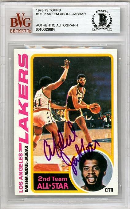 Kareem Abdul Jabbar Autographed 1978 Topps Card 110 Los Angeles