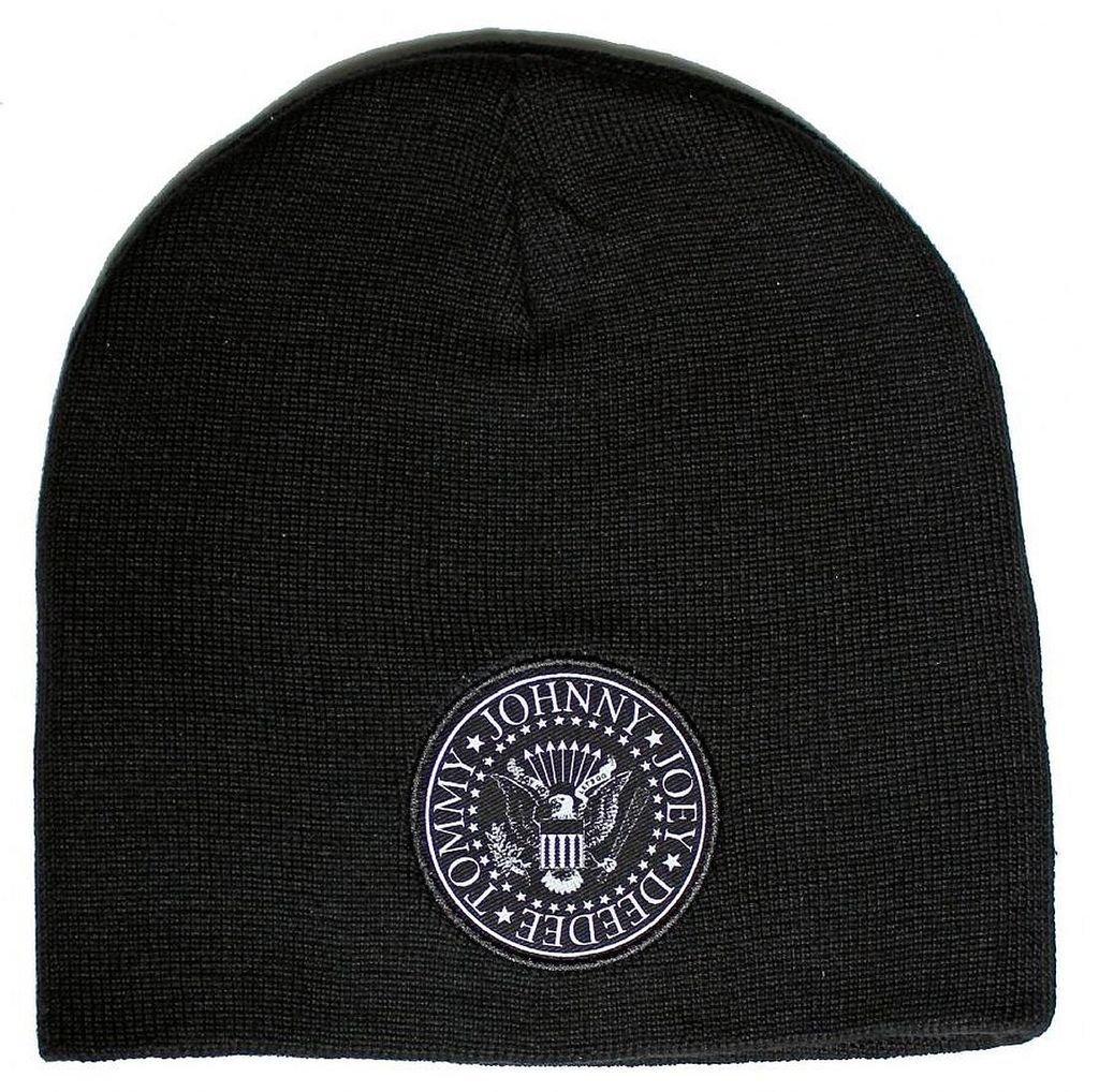 Ramones Presidential Seal Logo Double Sided Beanie Hat Cap Ill Rock Merch RABEAN01