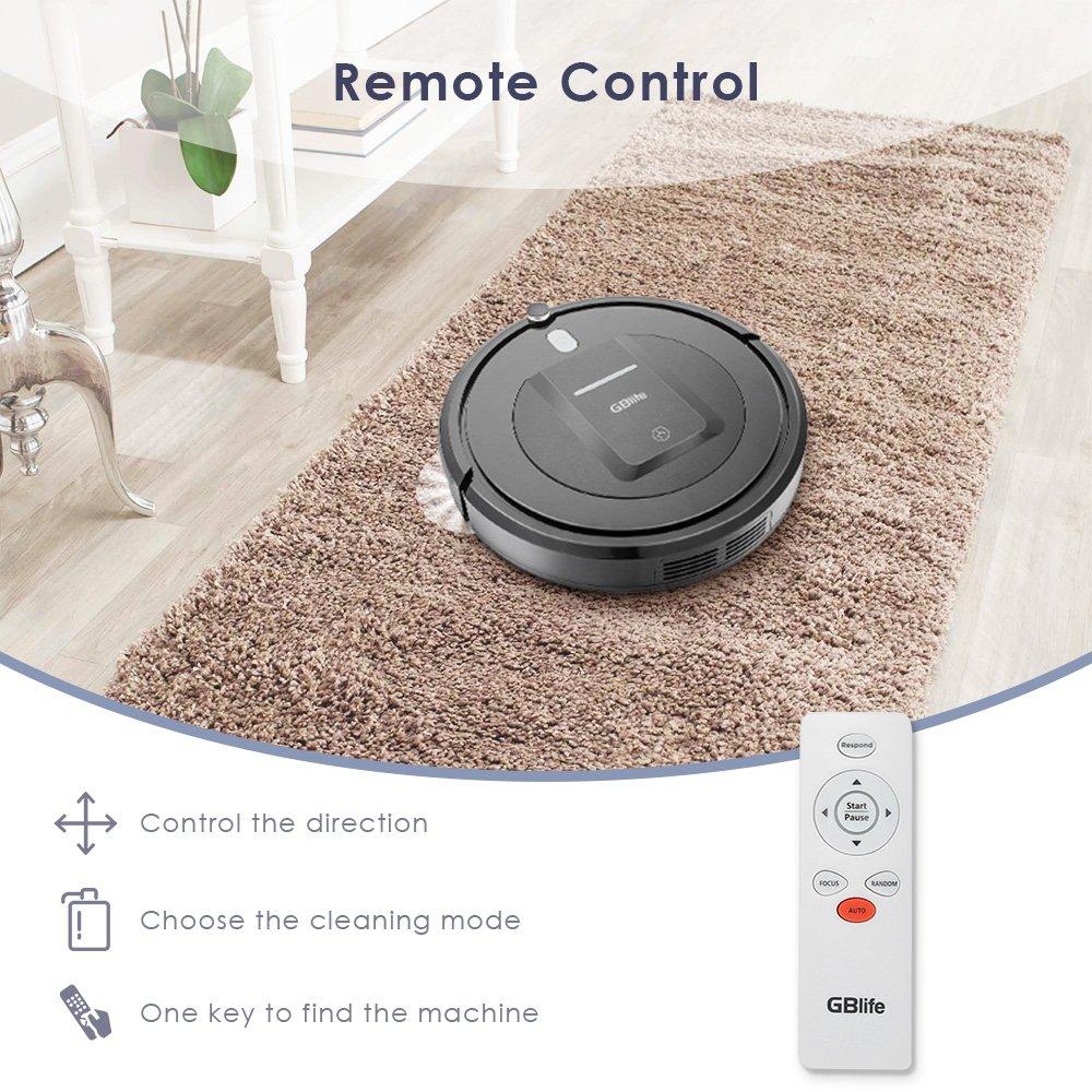 Smart Robot Aspirador Limpiador de bordes Automático Limpieza Remote Control 3 Modo de Limpieza 500 Pa de succión / Anti-caída Cliff Sensor / Bajo Ruido ...