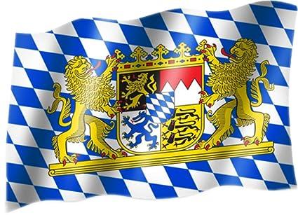 BAYERN König Ludwig II Fahne Flagge Flag 150 x 90 cm Hissflagge Ösen neu