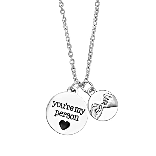 Amazon mainbead you are my person pinky promise pendant mainbead quotyou are my personquot pinky promise pendant necklace best friends couple necklace aloadofball Choice Image