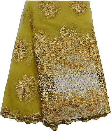 Tela de encaje de alta calidad con diseño de tul africano, tejido ...