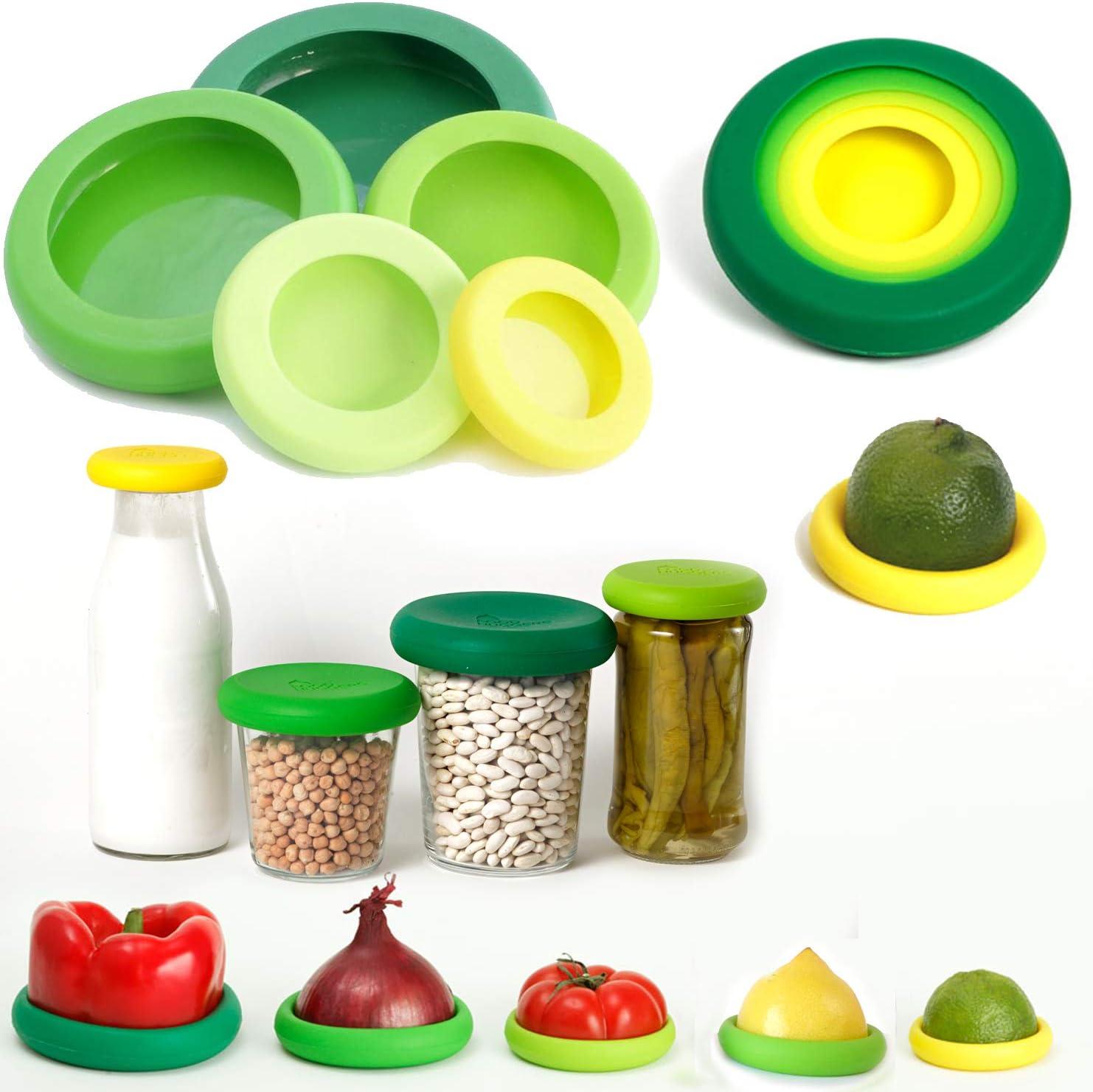 Food Huggers fundas de silicona reutilizables para fruta y verdura ...