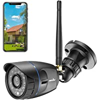 Wansview 1080P Waterproof WiFi Home Security Surveillance Bullet Camera with Night Vision (Black)