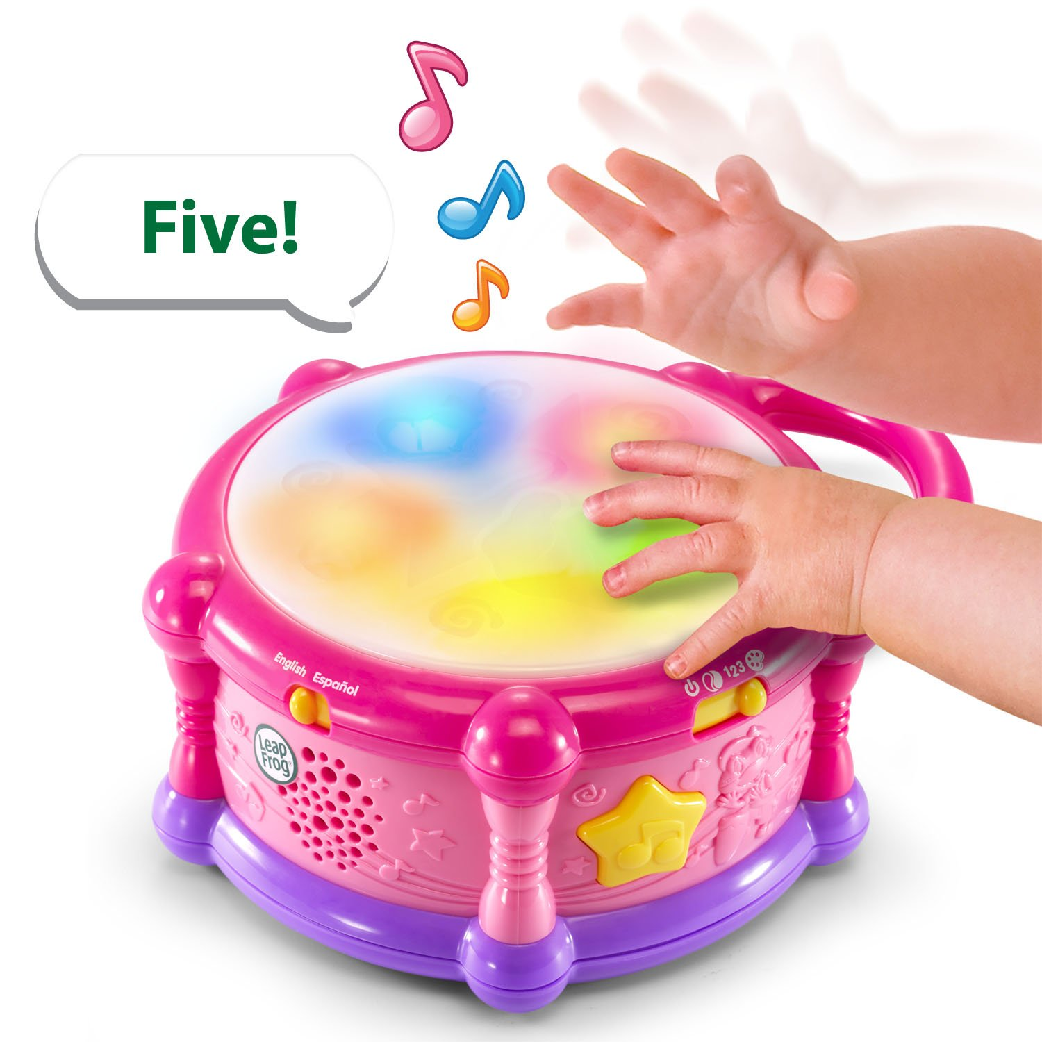 LeapFrog Learn & Groove Color Play Drum Bilingual, Pink (Amazon Exclusive) by LeapFrog