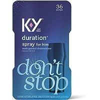 Duration Spray for Men, K-Y Male Genital Desensitizer Numbing Spray to Last Longer, 0.16 fl oz, 36 Sprays, Made with…