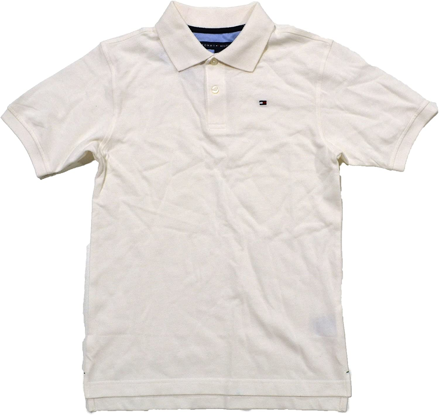 Tommy Hilfiger Polo Shirt Men/'s Classic Fit Mesh Top White XLarge XL