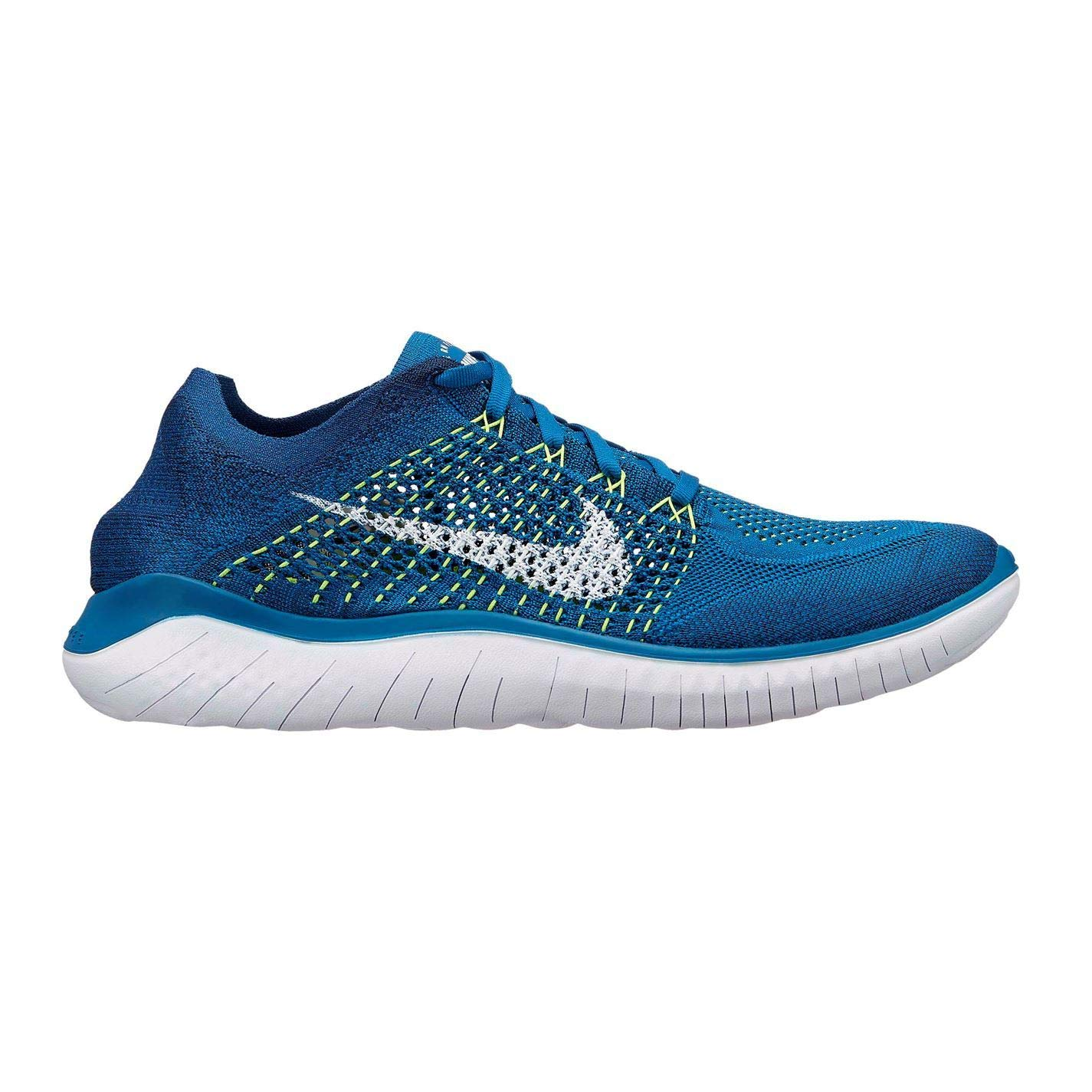 Green (UK9) (EU44) (US10) Official Nike Free RN Flyknit Running shoes Mens Fitness Jogging Trainers Sneakers