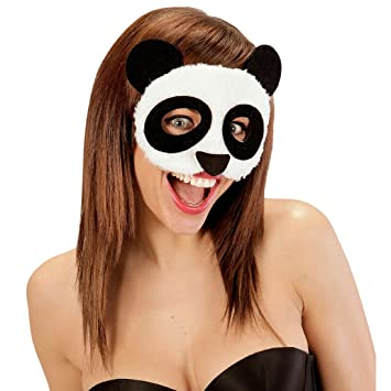 Careta de Peluche | Media Antifaz Panda | Máscara Animal | Mascarilla Oso Panda